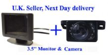 "Video Parking Reversing kit Nightview Camera 3.5"" LCD"